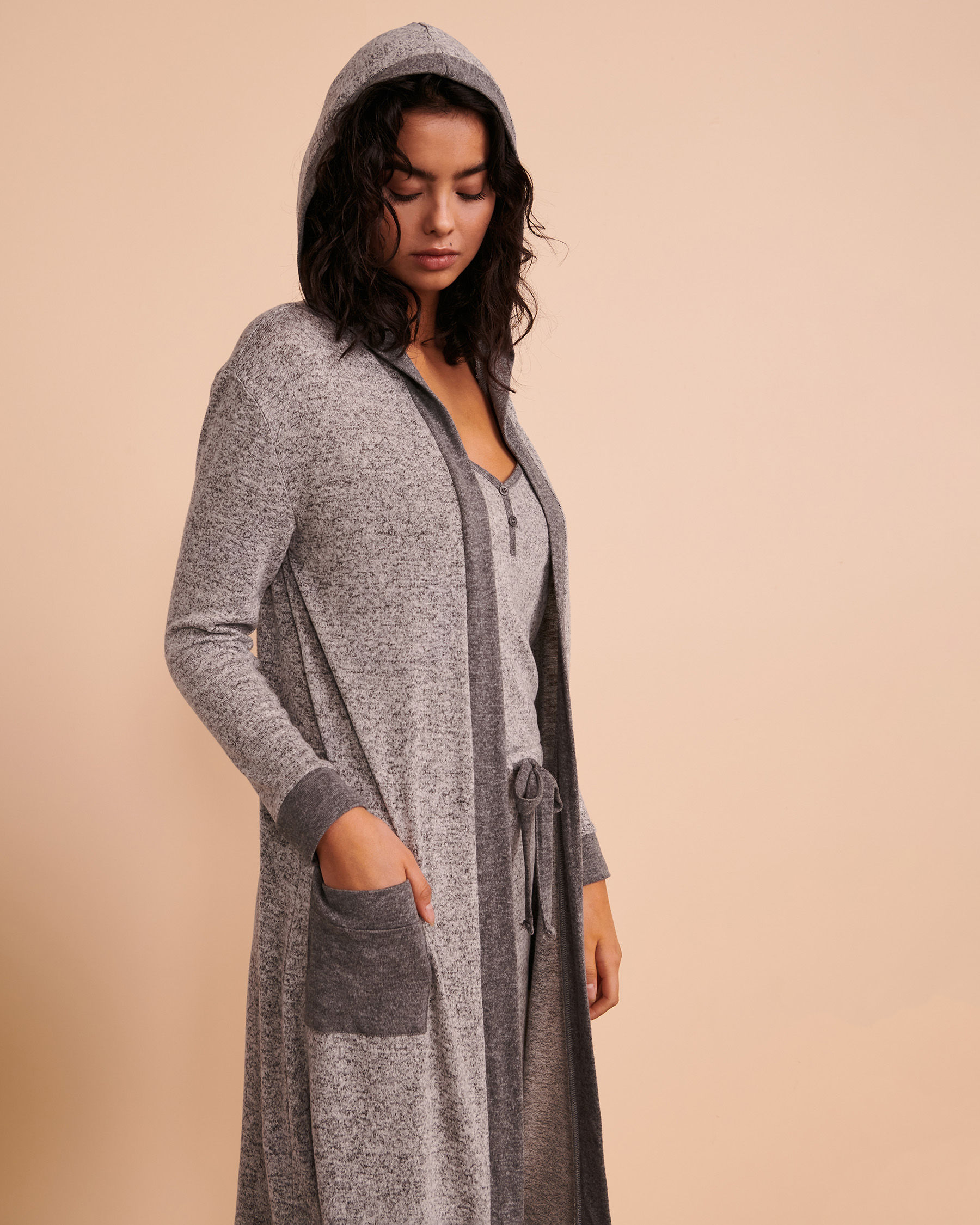 TURQUOISE COUTURE Long Sleeve Cardigan Soft grey 02400004 - View1