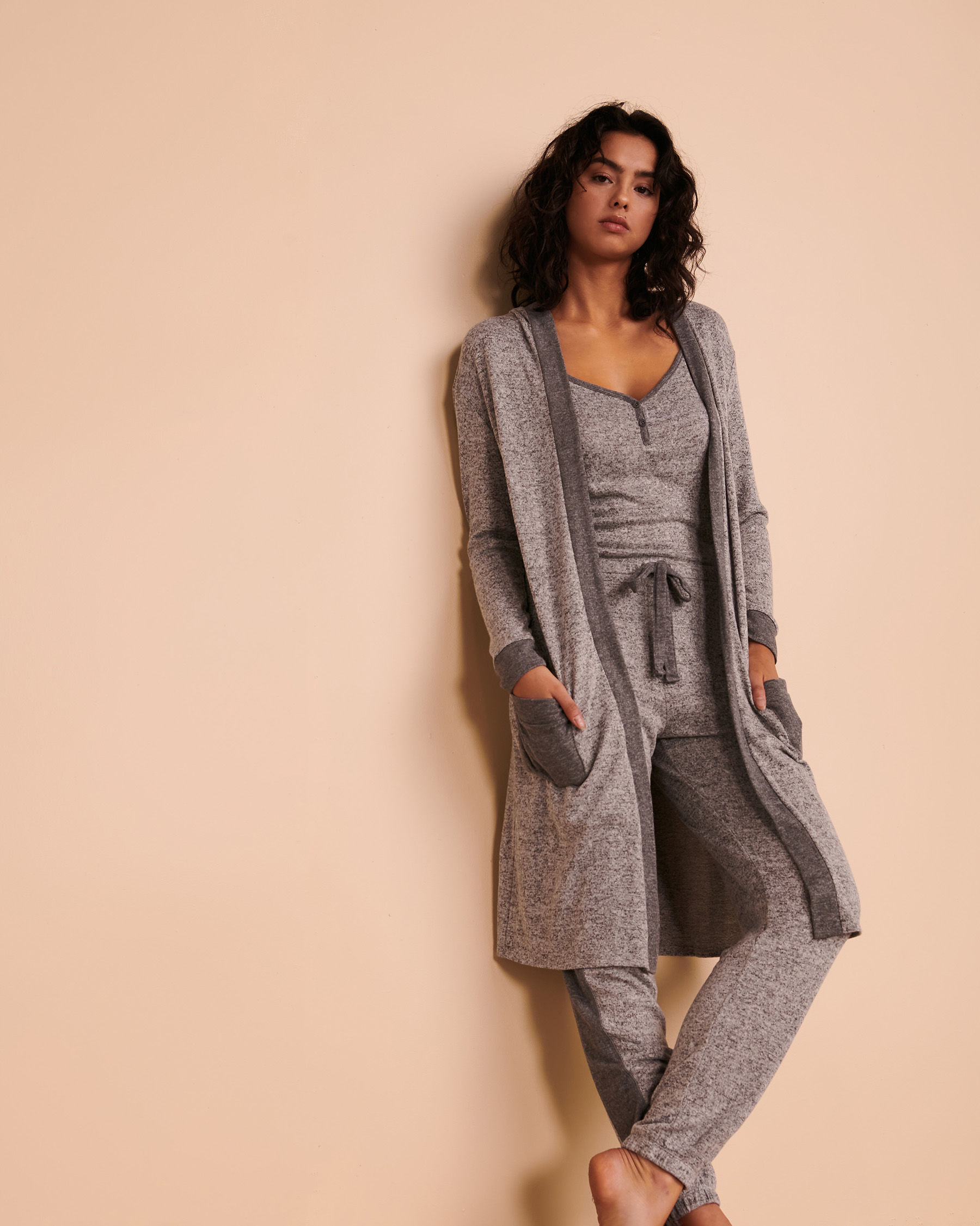 TURQUOISE COUTURE Long Sleeve Cardigan Soft grey 02400004 - View2