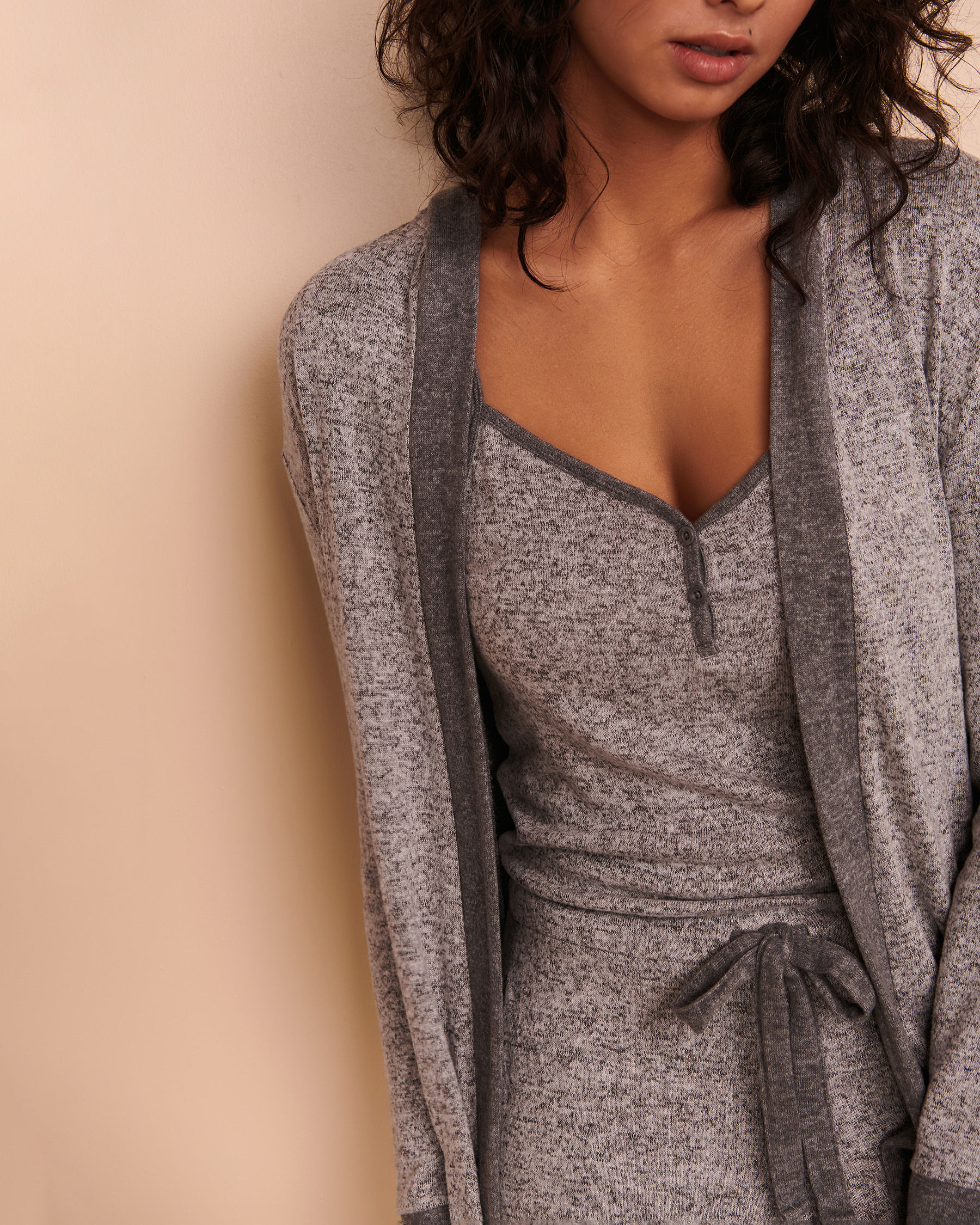 TURQUOISE COUTURE Long Sleeve Cardigan Soft grey 02400004 - View4
