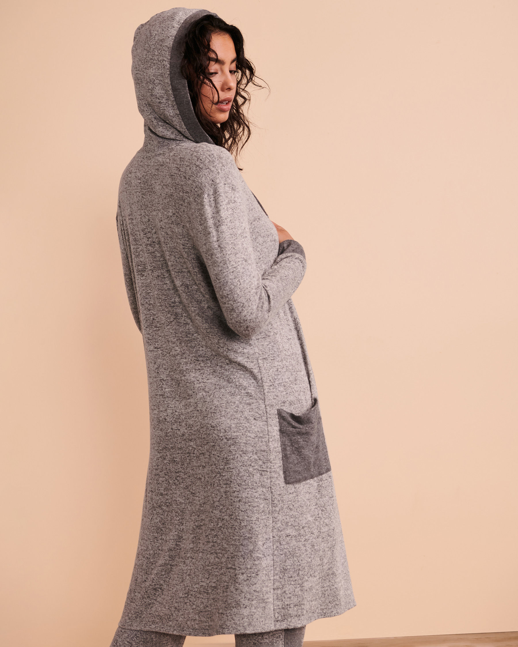 TURQUOISE COUTURE Long Sleeve Cardigan Soft grey 02400004 - View5