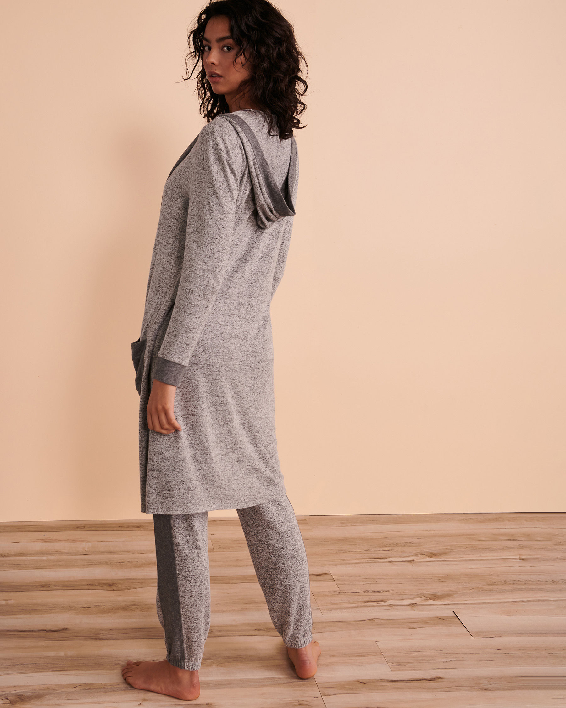 TURQUOISE COUTURE Long Sleeve Cardigan Soft grey 02400004 - View6