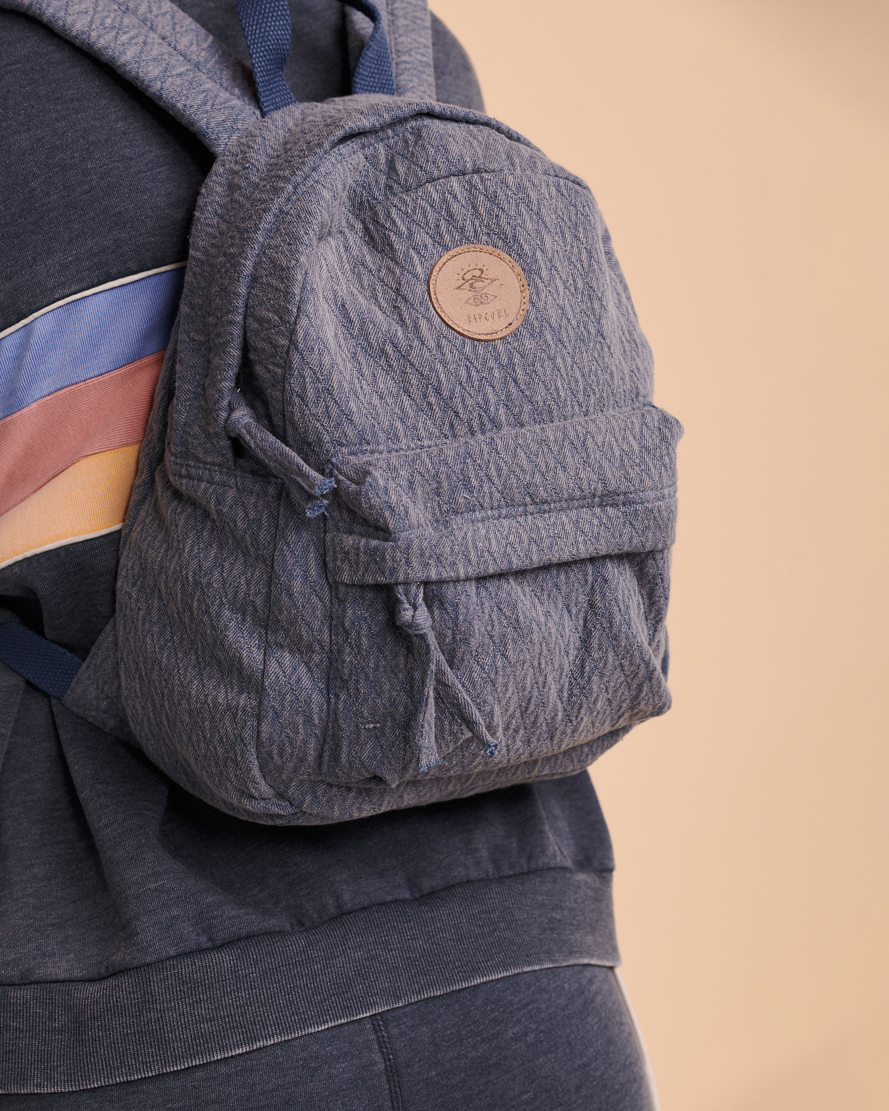 RIP CURL Jacquard Cotton Mini Backpack Washed navy LBPOP1 - View3