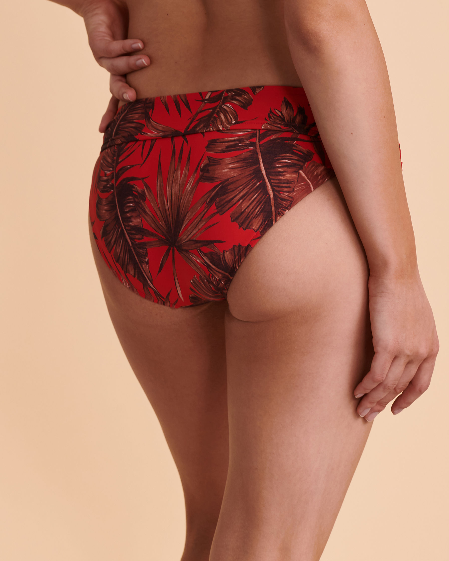SEAFOLLY Twisted Waistband Bikini Bottom Red floral 44320-843 - View3