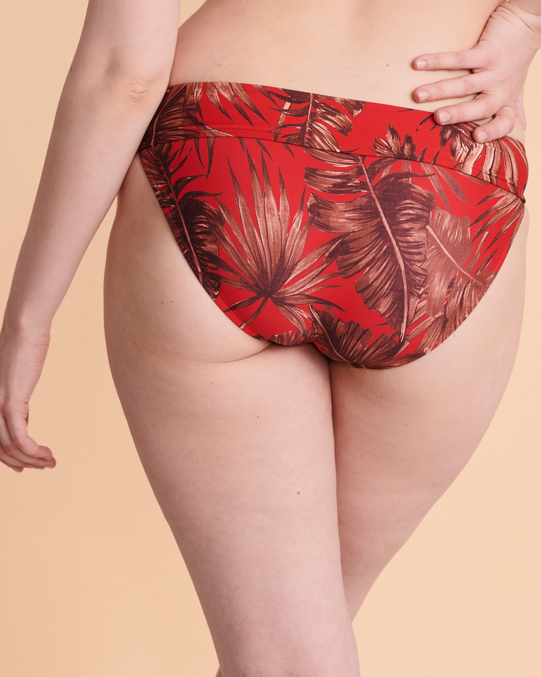 SEAFOLLY Twisted Waistband Bikini Bottom Red floral 44320-843 - View4