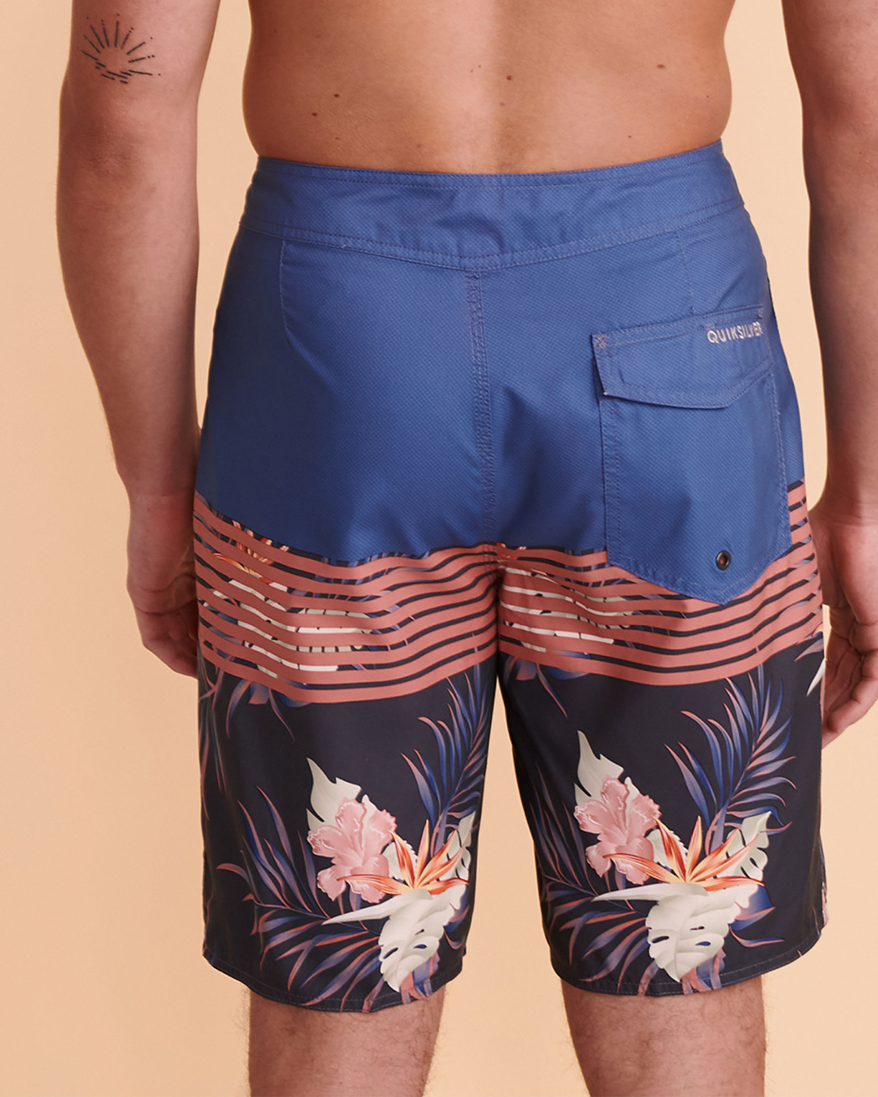 QUIKSILVER Maillot boardshort EVERYDAY DIVISION Rayures roses EQYBS04581 - Voir3