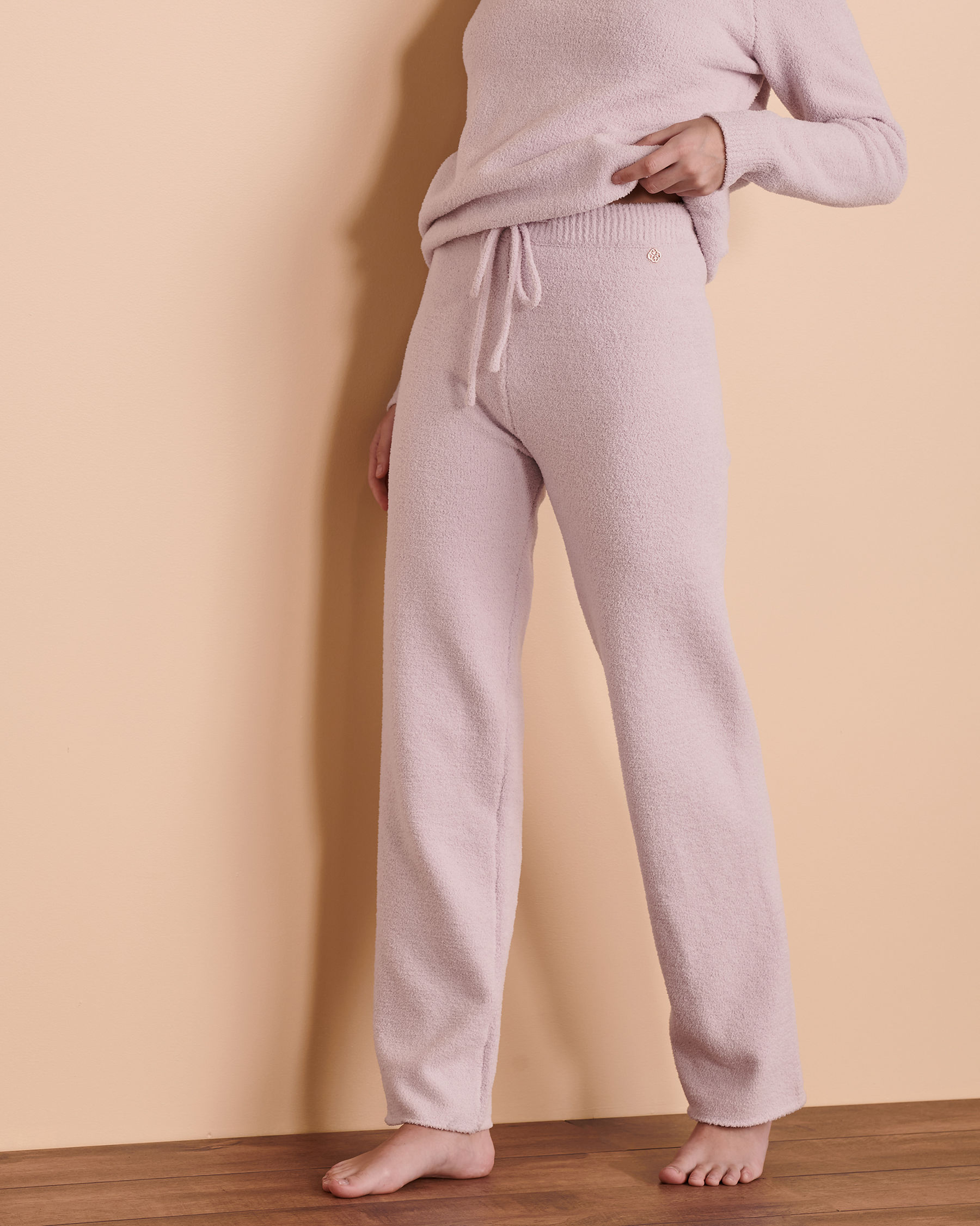 TURQUOISE COUTURE Chenille Lounge Pant Very soft lilac 02200015 - View1