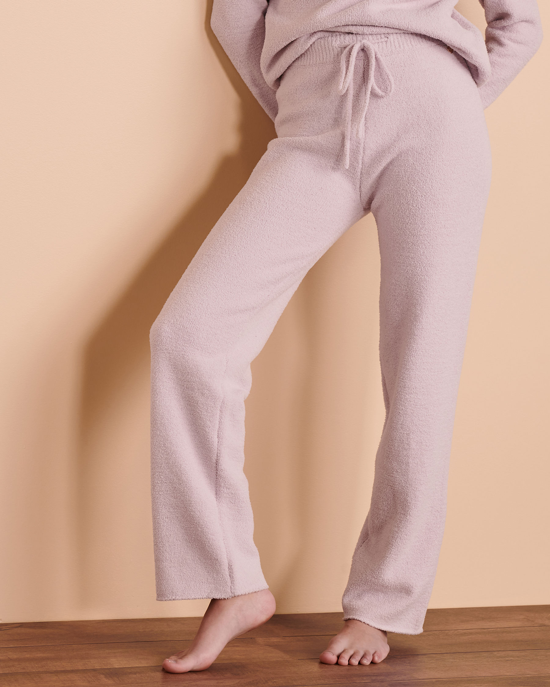 TURQUOISE COUTURE Chenille Lounge Pant Very soft lilac 02200015 - View3