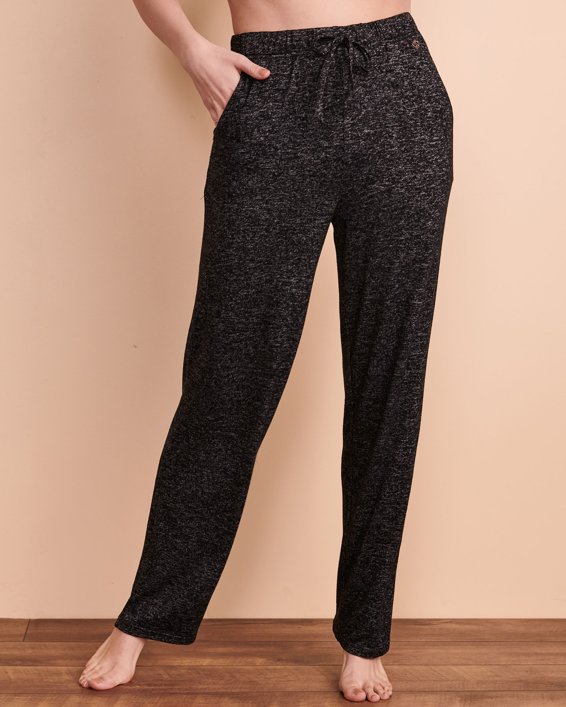 TURQUOISE COUTURE Wide Leg Lounge Pant Black 02200011 - View1