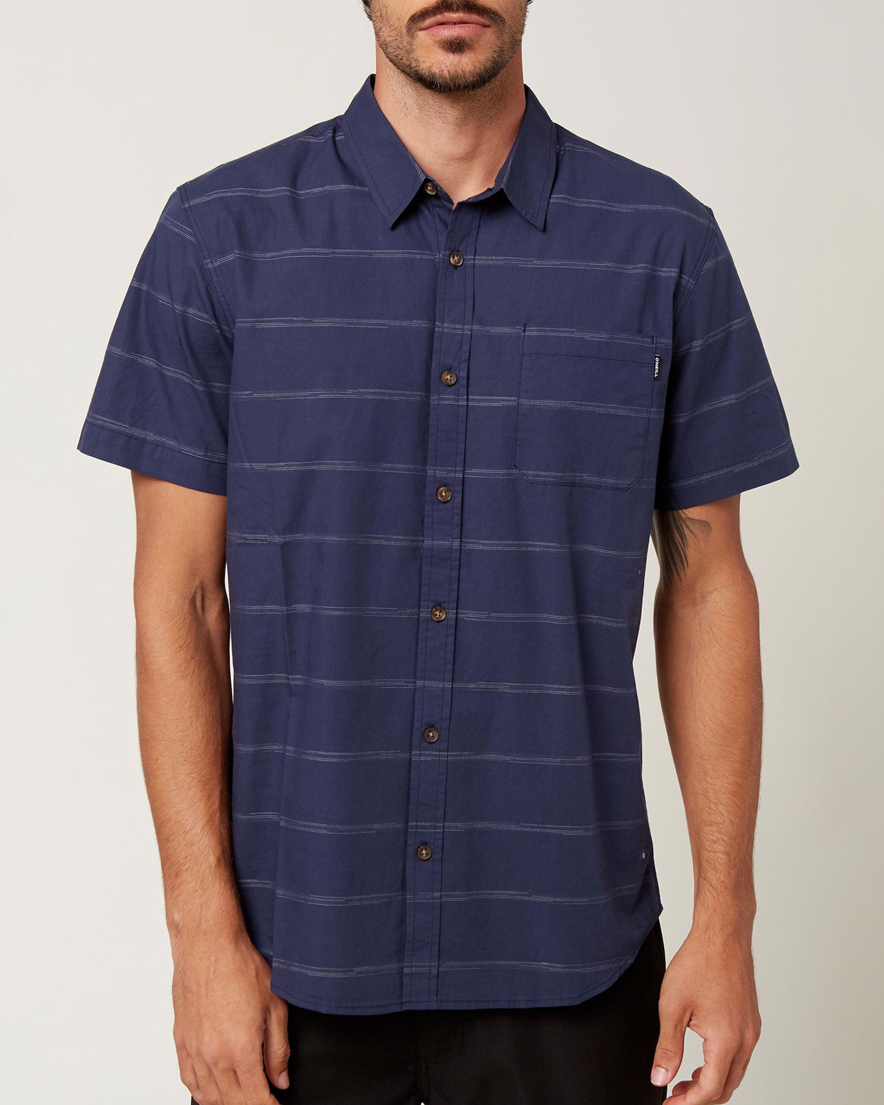 O'NEILL Chemise manches courtes IMPERIAL STRIPE Rayures marines SP1104110 - Voir1