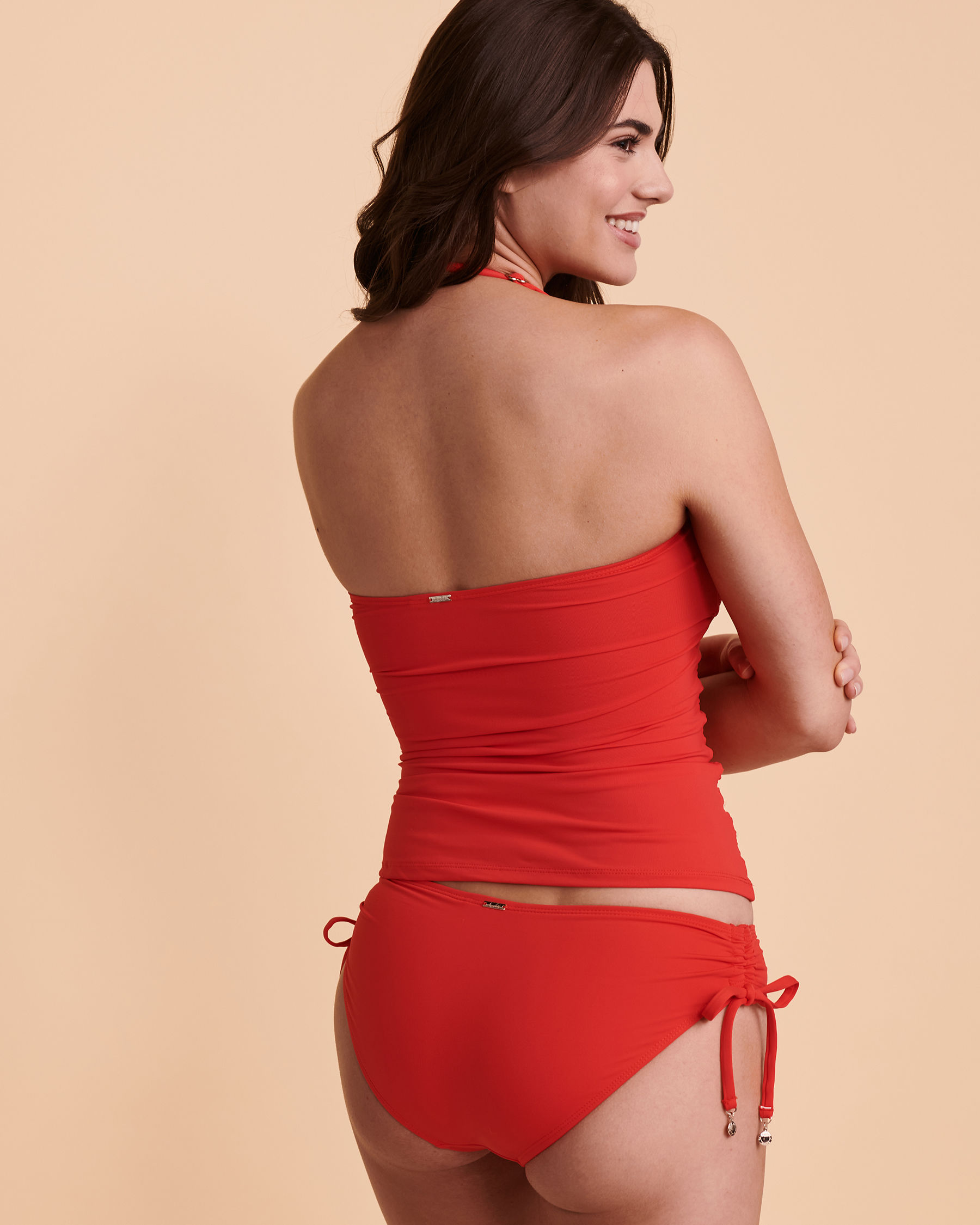 ANNE COLE Bandeau Tankini Top Red 20MT25001 - View2