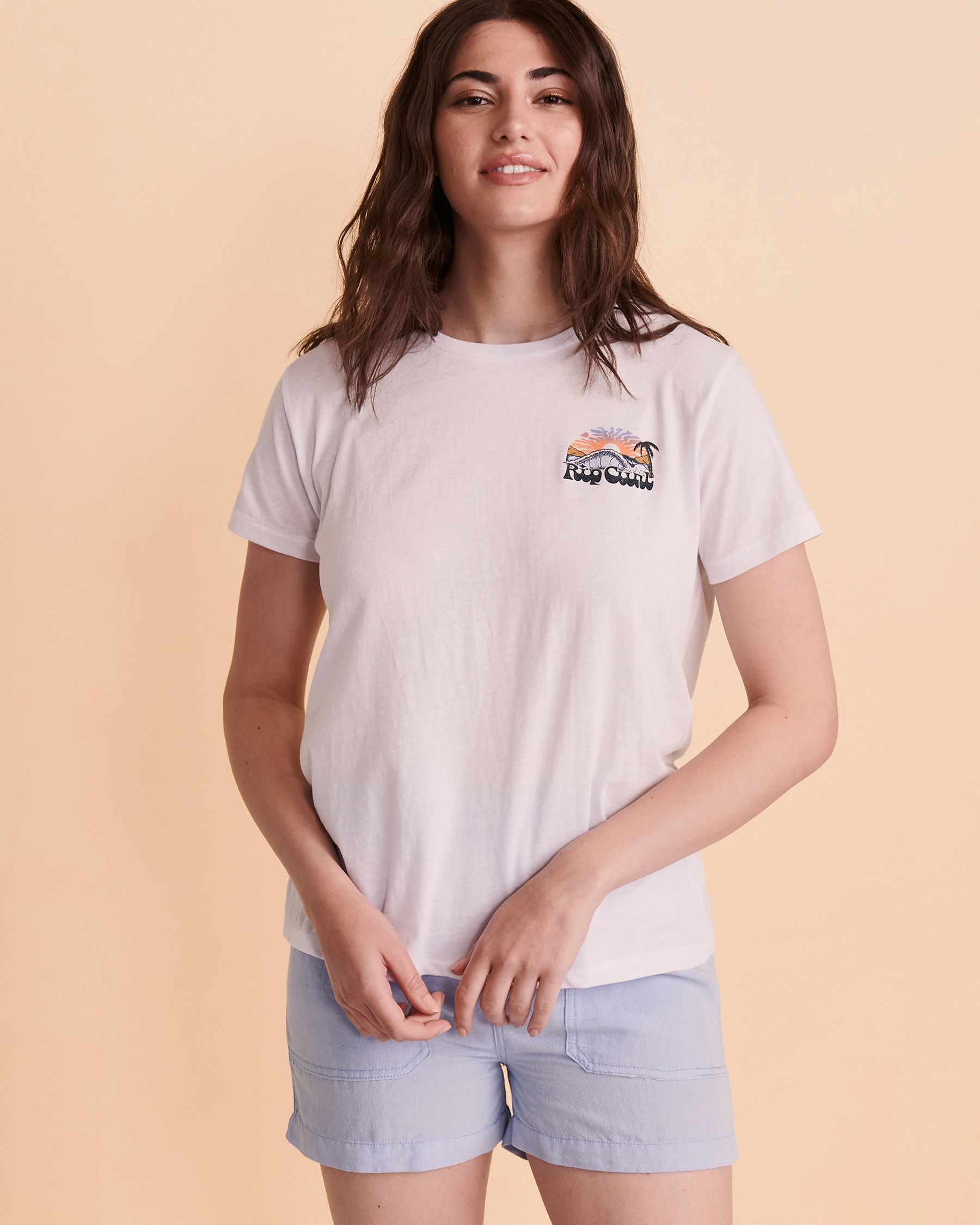 RIP CURL BREAKING WAVE T-shirt White GTEUJ8 - View1