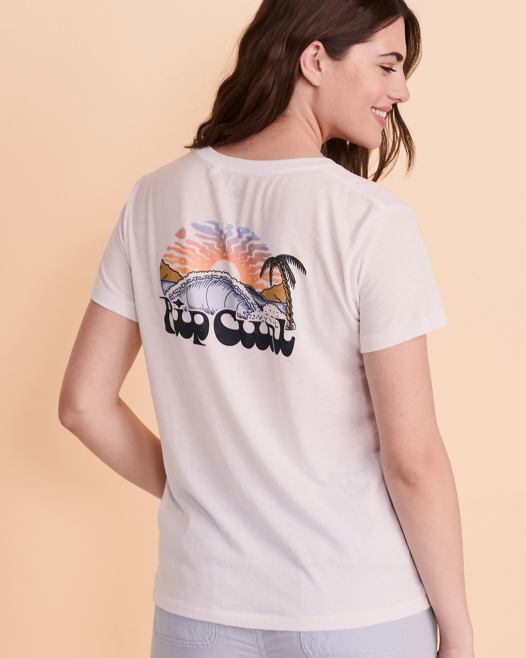 RIP CURL BREAKING WAVE T-shirt White GTEUJ8 - View2