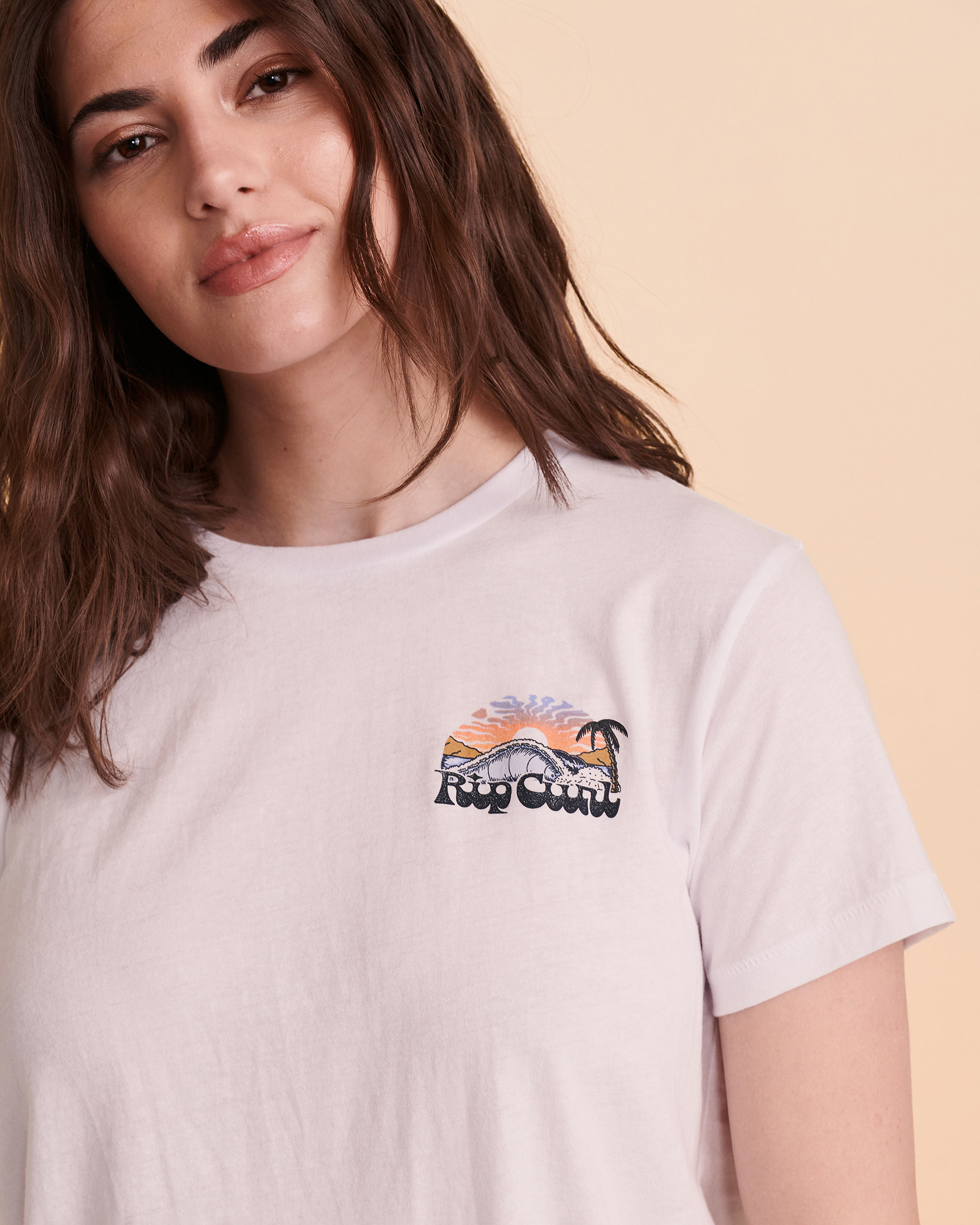 RIP CURL BREAKING WAVE T-shirt White GTEUJ8 - View3