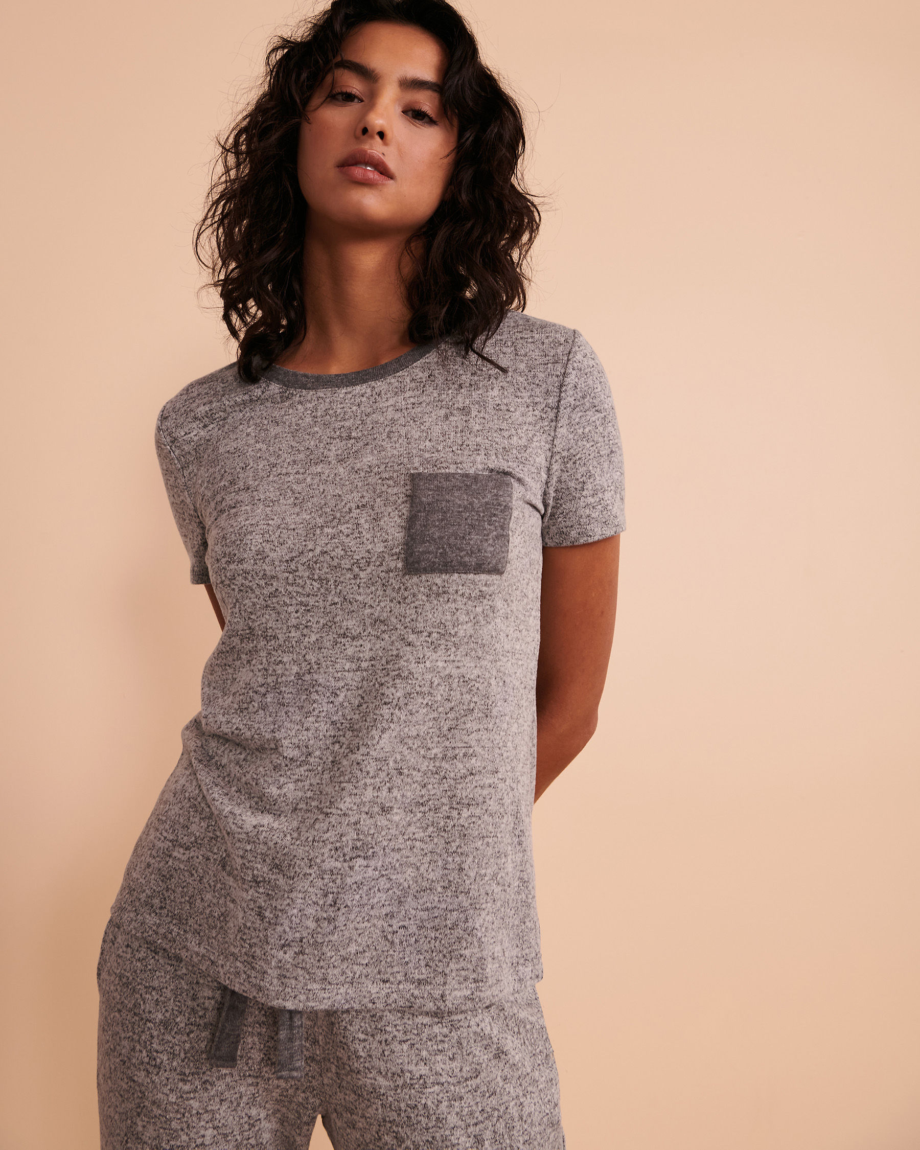 TURQUOISE COUTURE Crew Neck T-shirt Soft grey 02100001 - View6