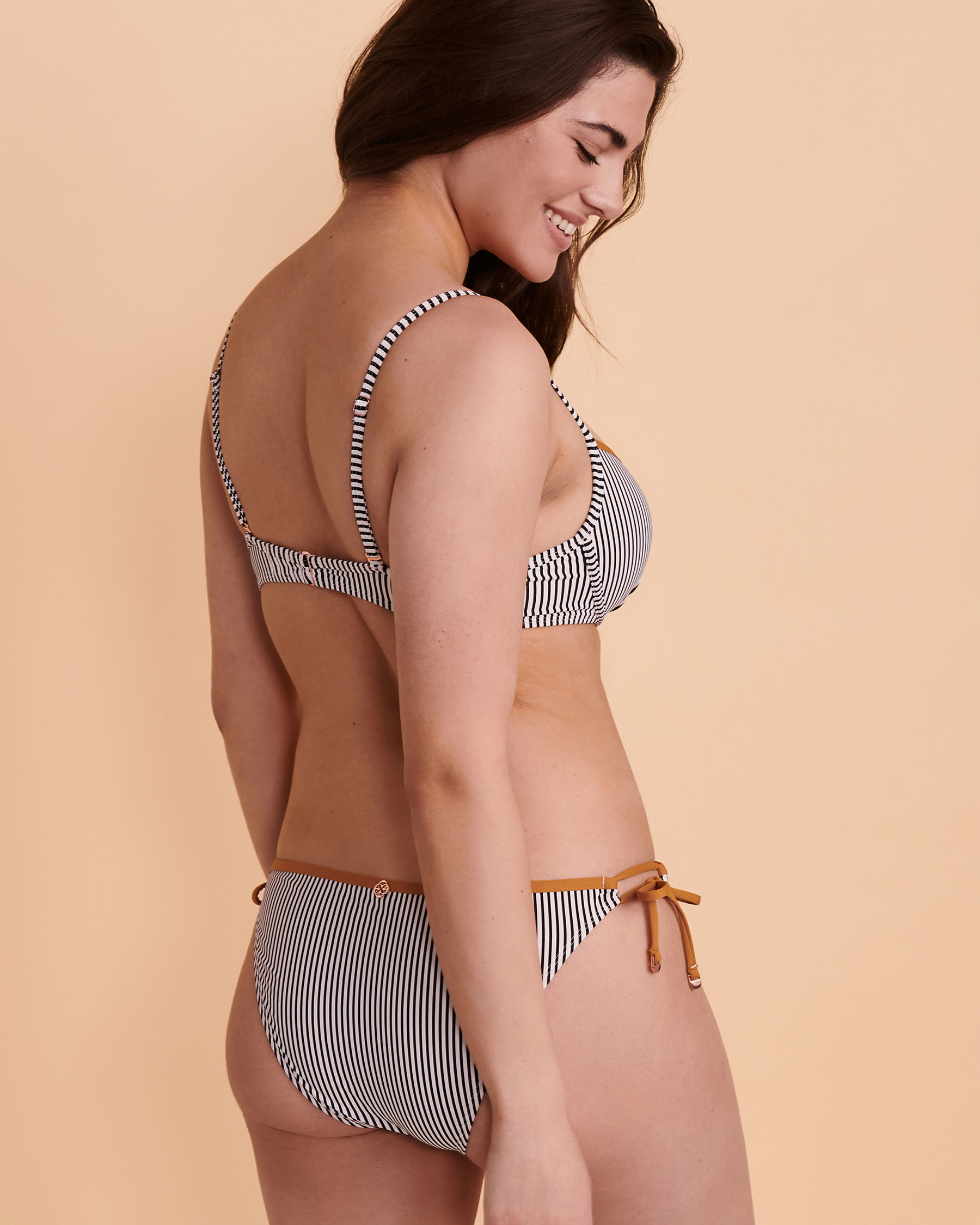 TURQUOISE COUTURE TAUPICAL Push-up Bikini Top Stripes 01100035 - View2