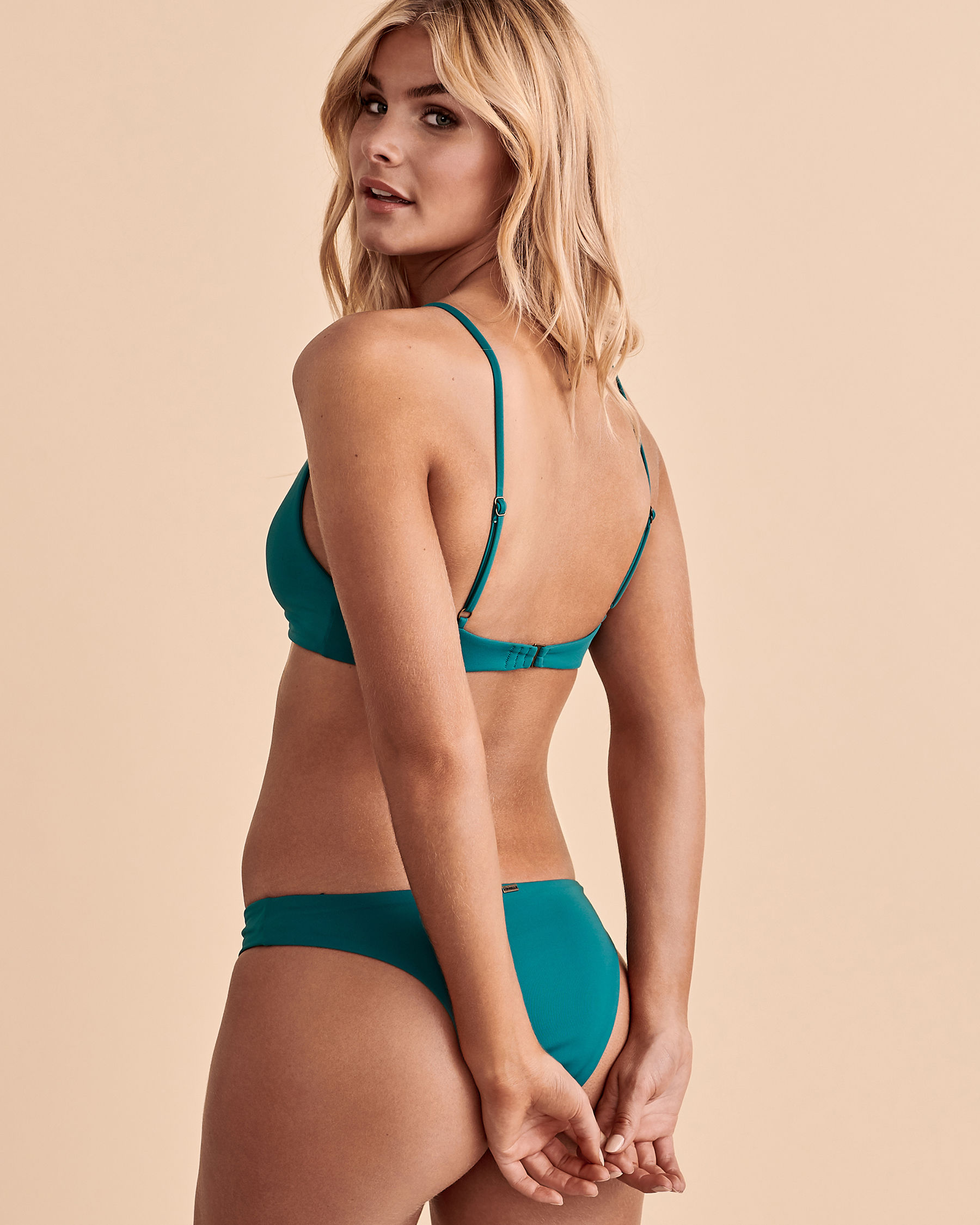 O'NEILL SALTWATER Knotted Triangle Bikini Top Green SP0474003 - View2